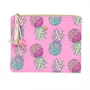 NWT • Simply Southern • Pineapple Tassel Clutch